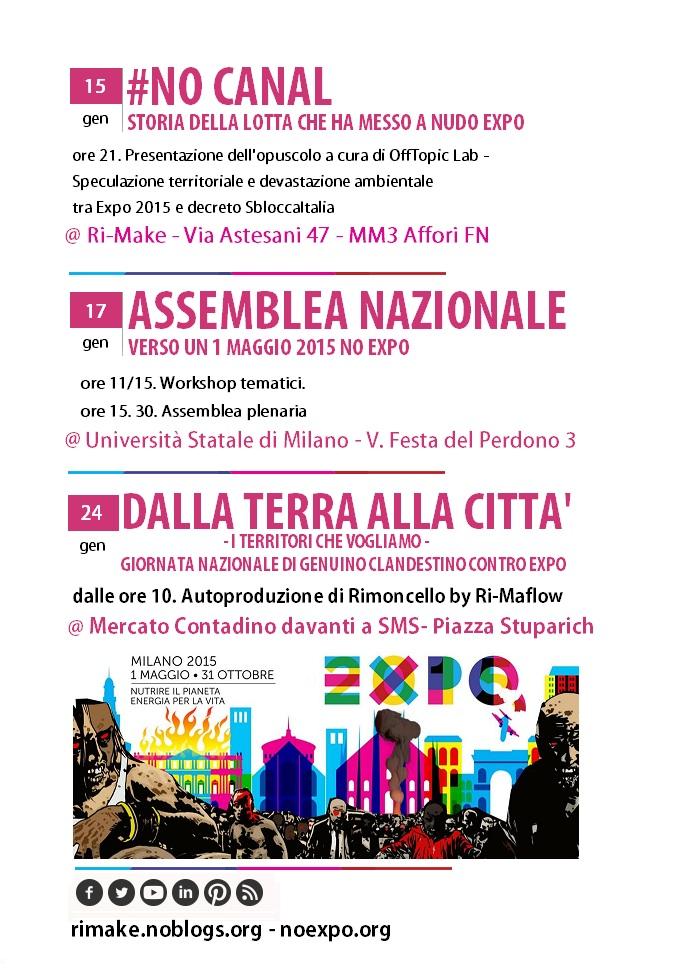 Gennaio si colora di #NoExpo